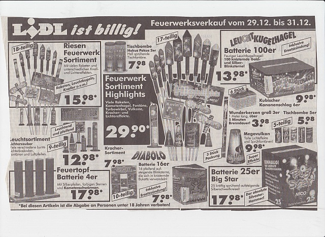 feuerwerk album lidl prospekt 90er jahre dm. Black Bedroom Furniture Sets. Home Design Ideas