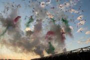 Farbige Rauchbomben