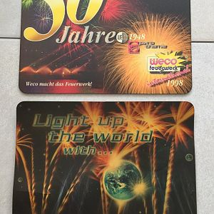 2 alte Weco Mousepads